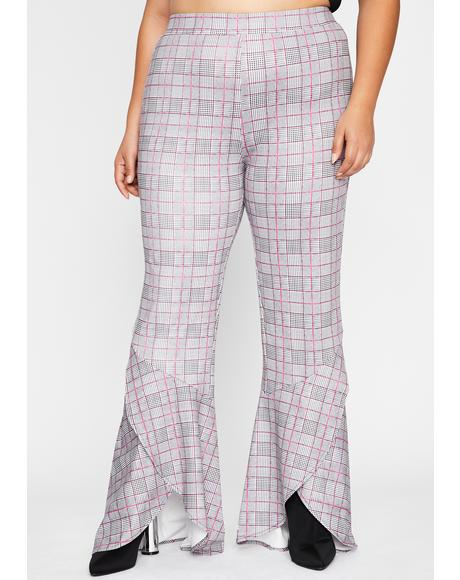 Ur Werkin' Woman Plaid Flares