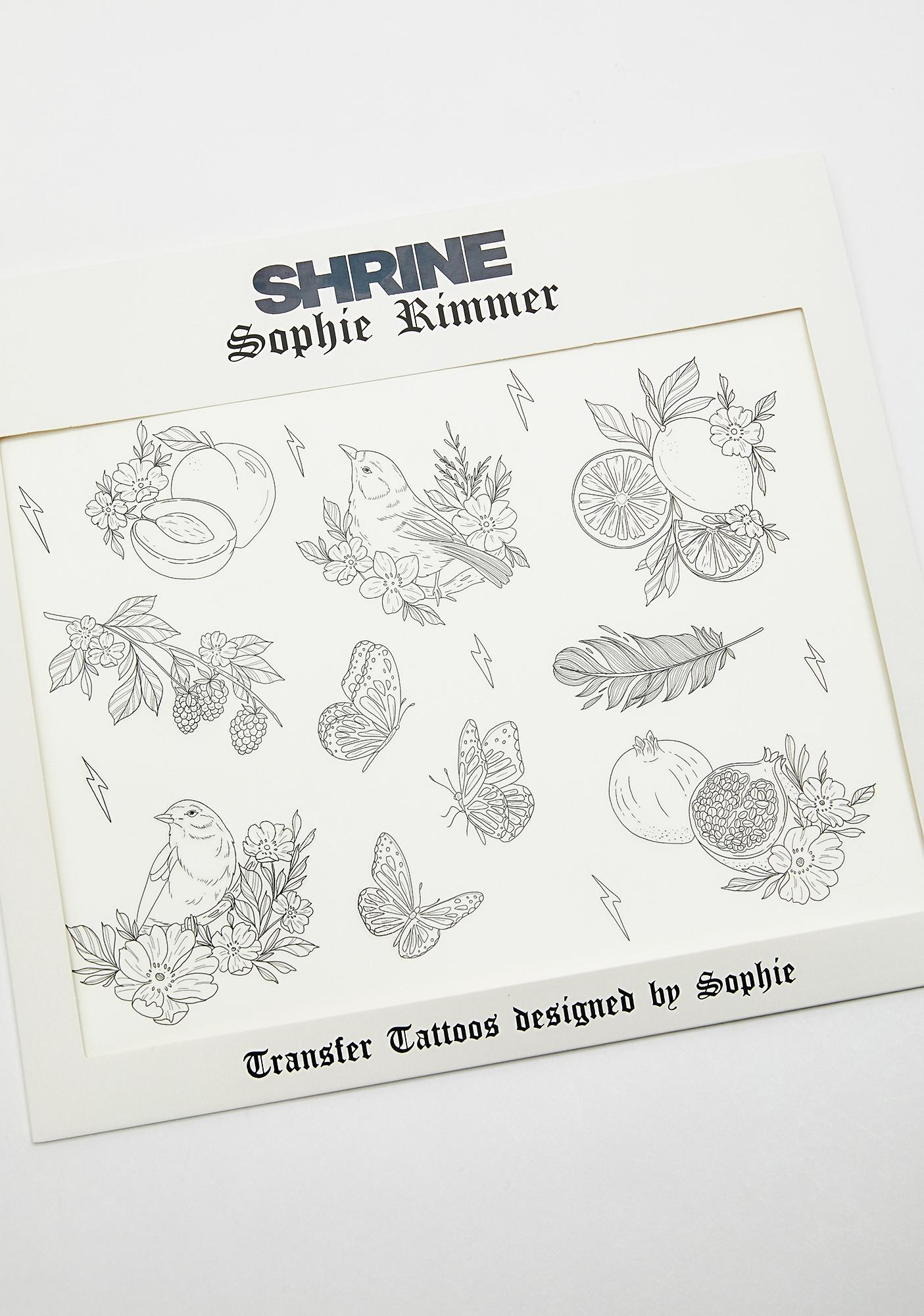 Shrine x Sophie Rimmer Birds Tattoos