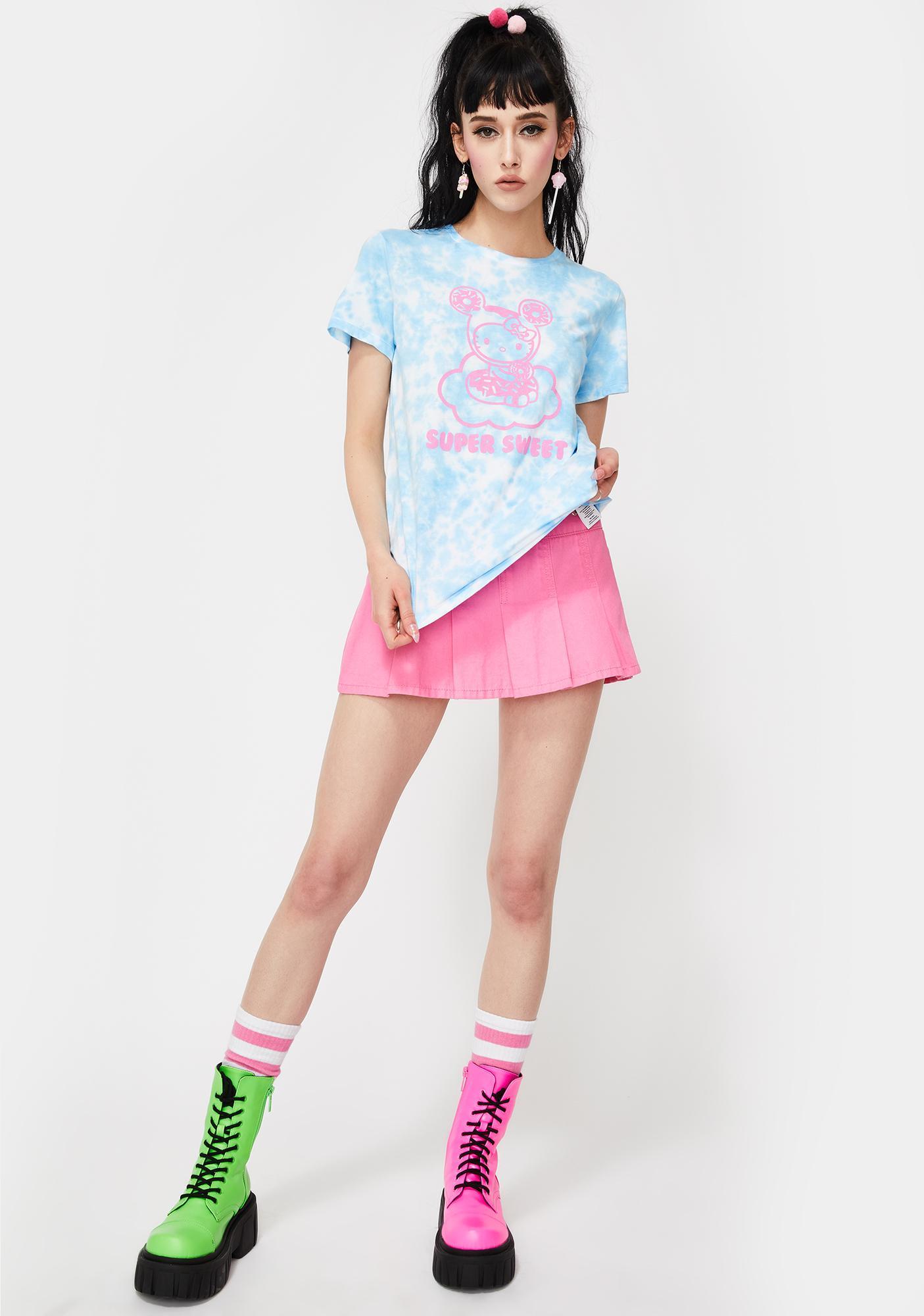 Tokidoki X Hello Kitty Cloudy Donut Tie Dye Graphic Tee