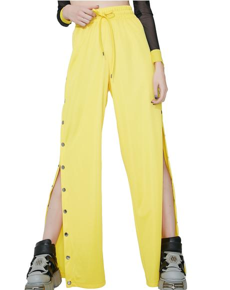 Lemon Wannabe Snap Track Pants