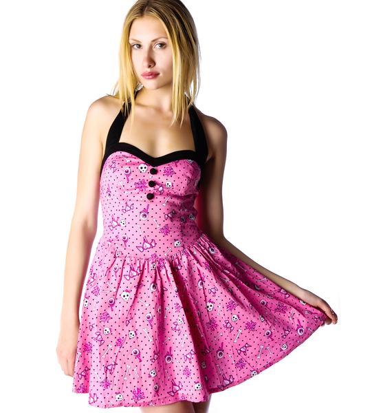 Hell Bunny Perky Mini Halter Dress