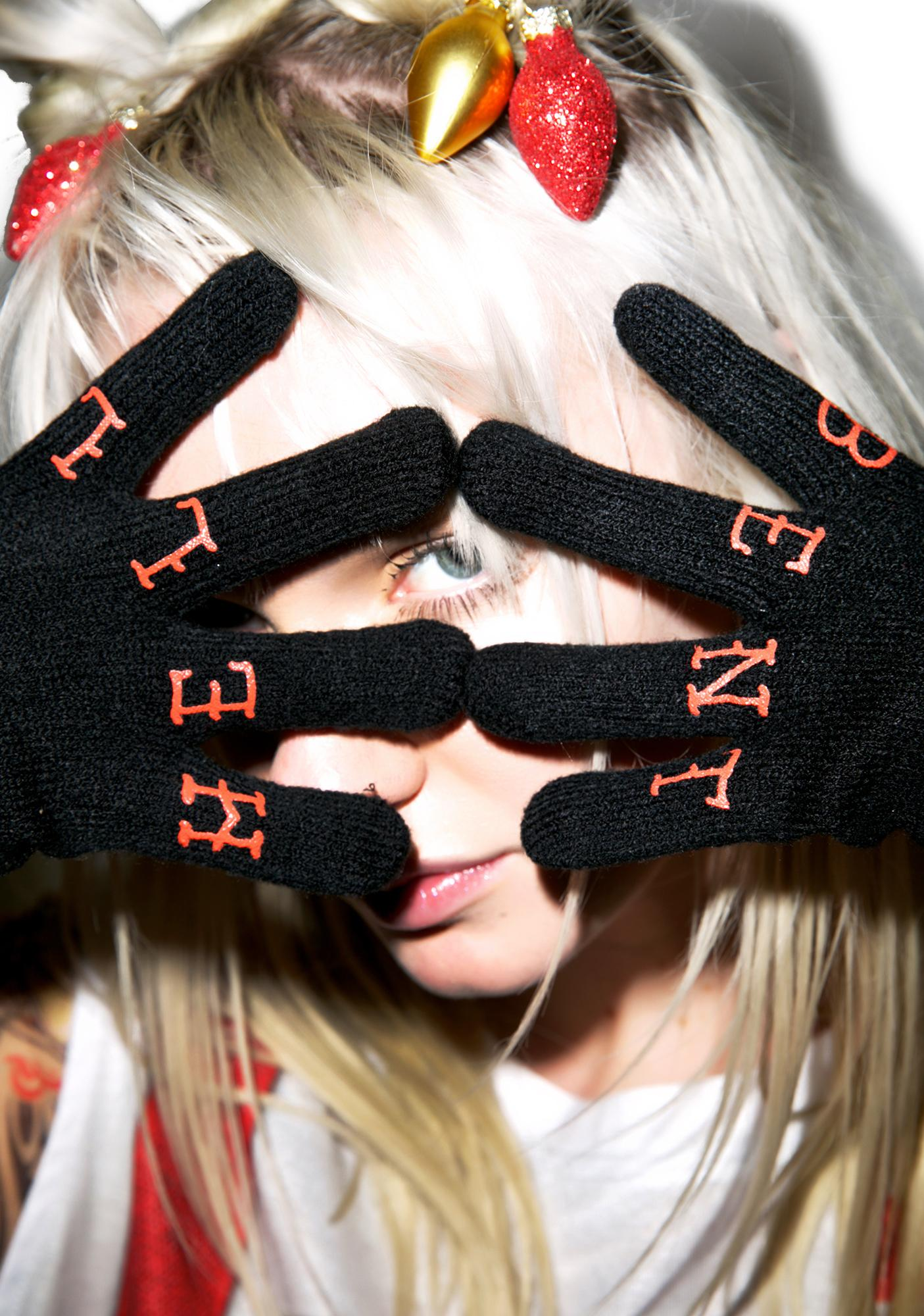 Sourpuss Clothing Hell Bent Knit Gloves