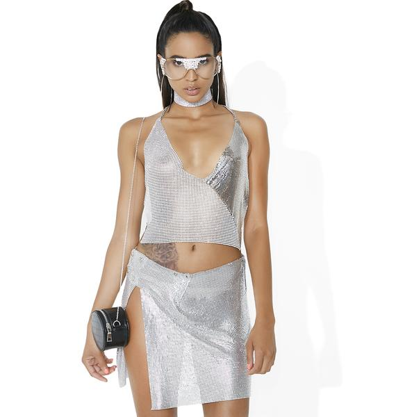 Love 2 Love You Chainmail Mini Skirt