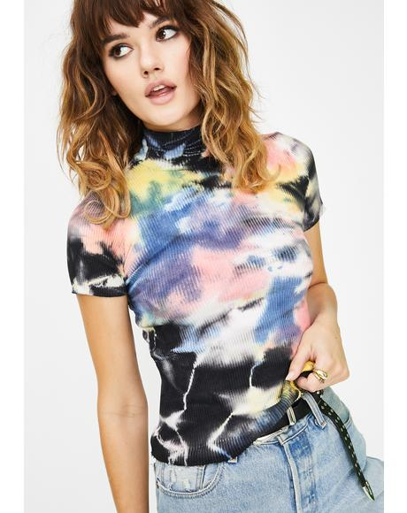 Moonlight Mistress Tie Dye Top