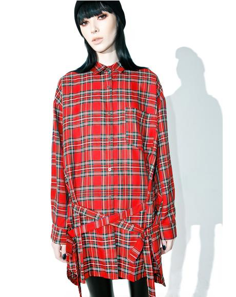 Takin' It Slow Plaid Tunic