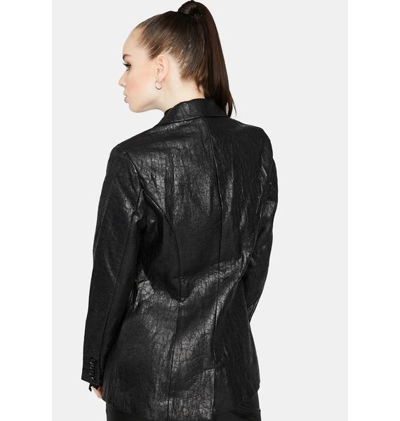 Business Un-Casual Vegan Leather Blazer