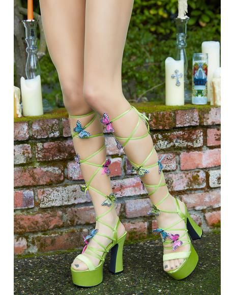 Forest Pixie Queen Lace-Up Heels