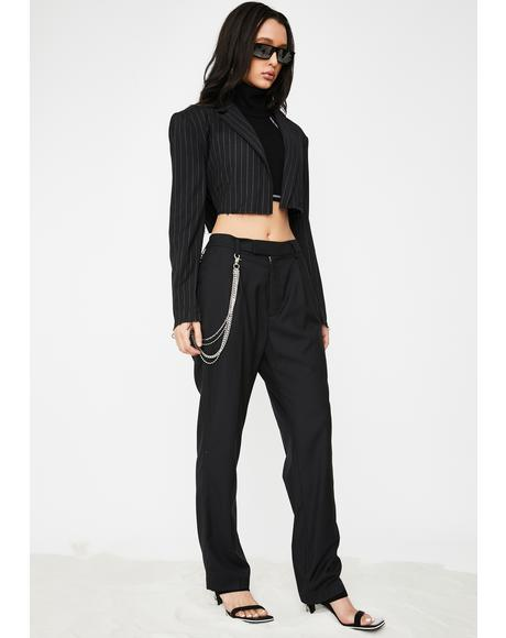 Suited For Werk Pinstripe Trousers