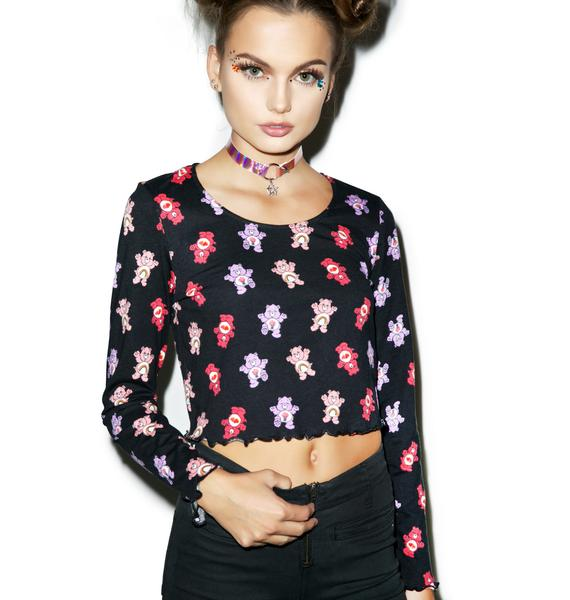Iron Fist Care Bears Long Sleeve Crop Tee