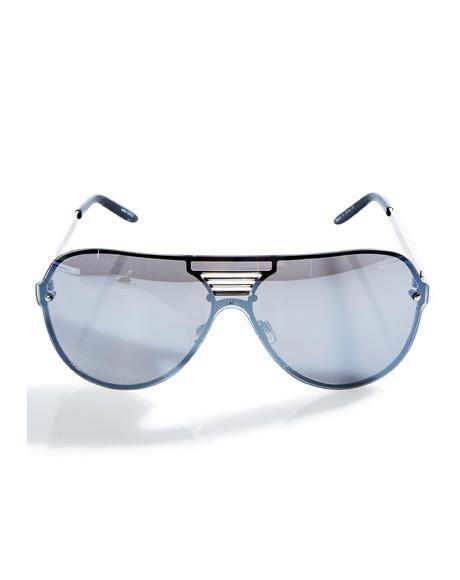 Silver Showtime Sunglasses