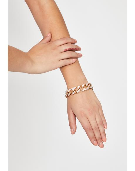 Clearly People Talk Chain Bracelet