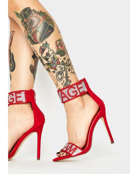Team Savage Peep Toe Heels