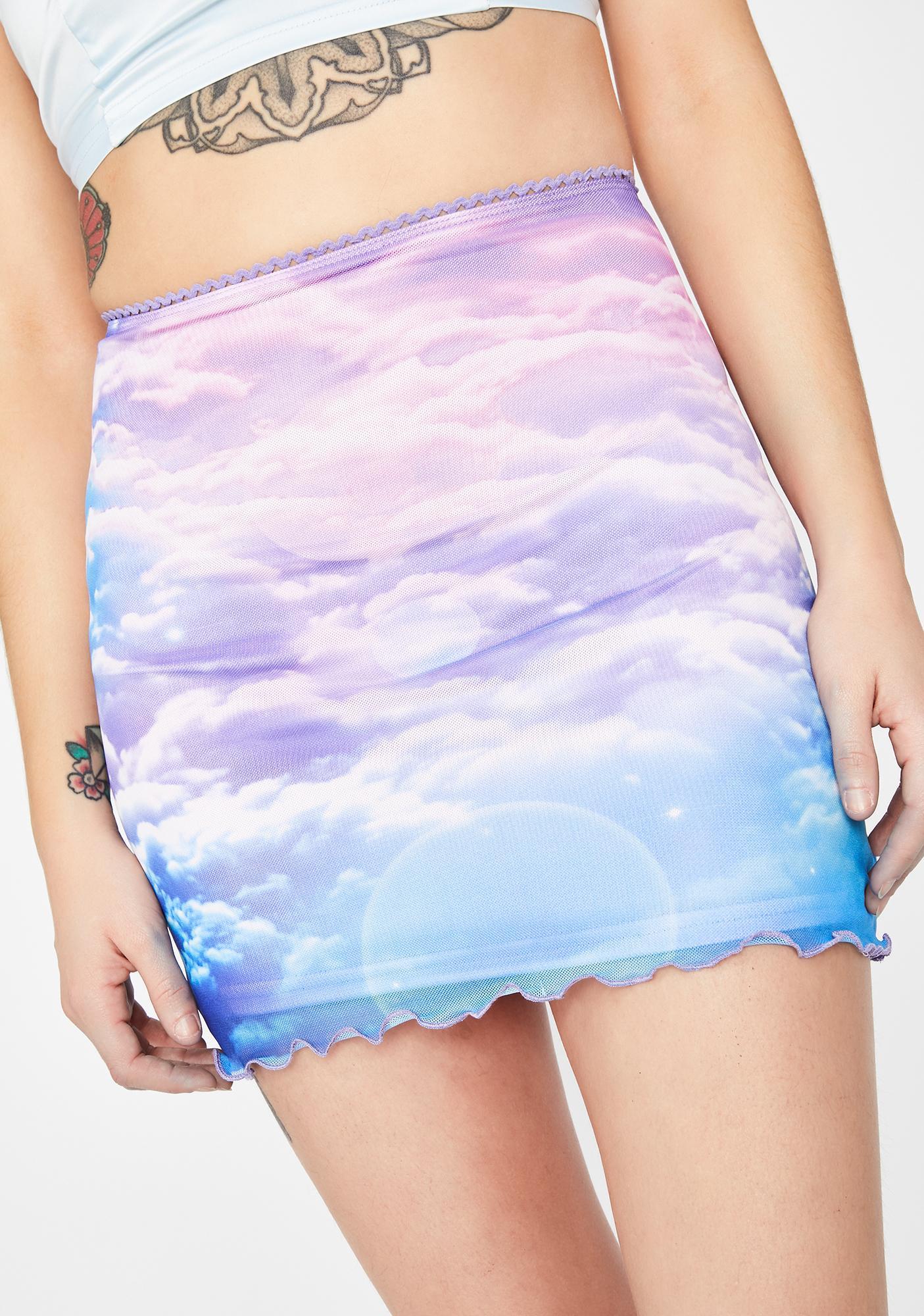 HOROSCOPEZ Heaven's Calling Mesh Skirt