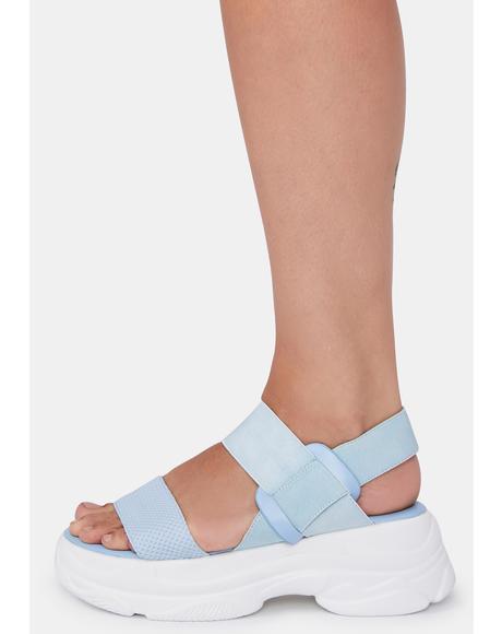 Soft Wave Platform Sandals
