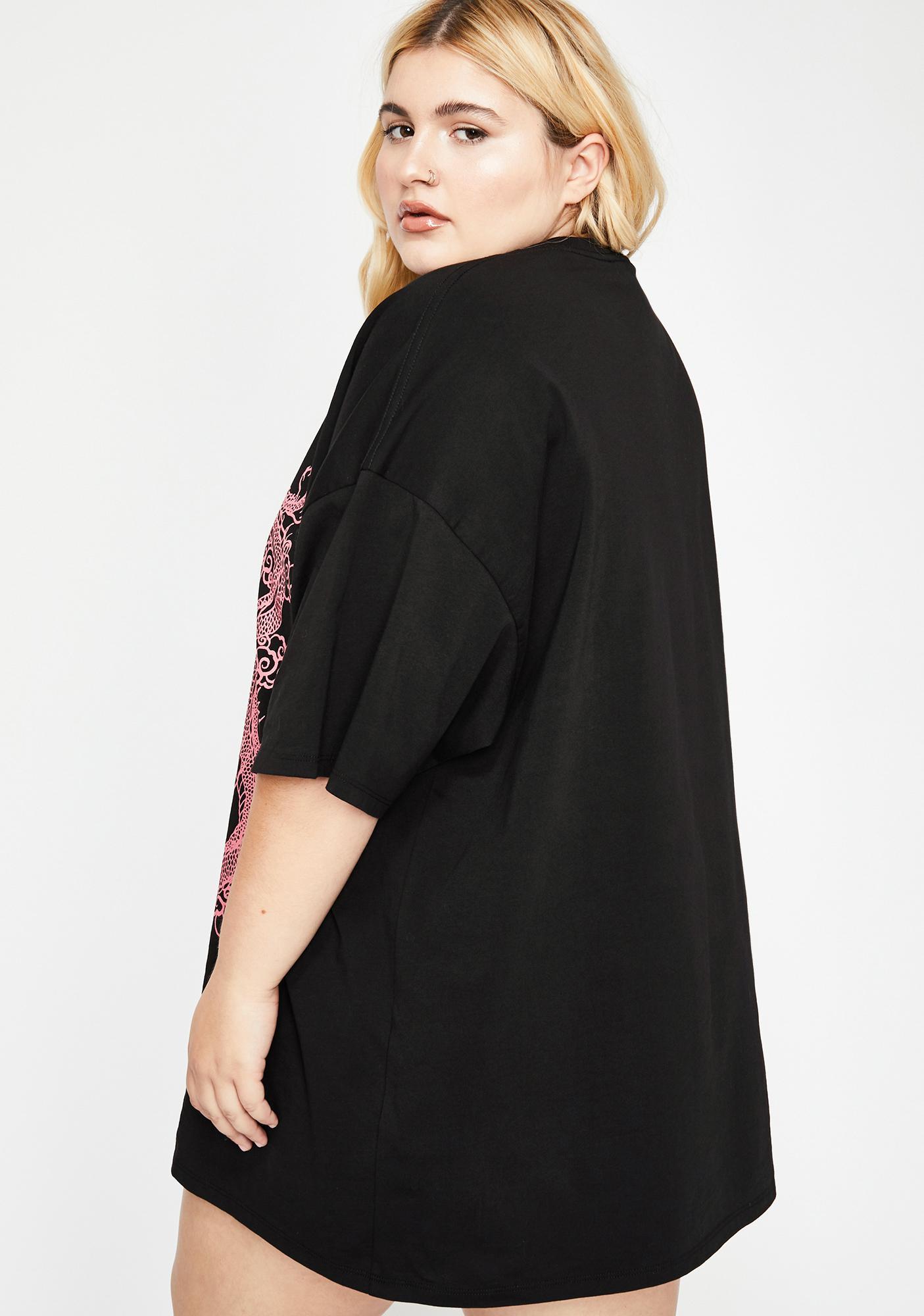 NEW GIRL ORDER Dragon Print T-Shirt Dress