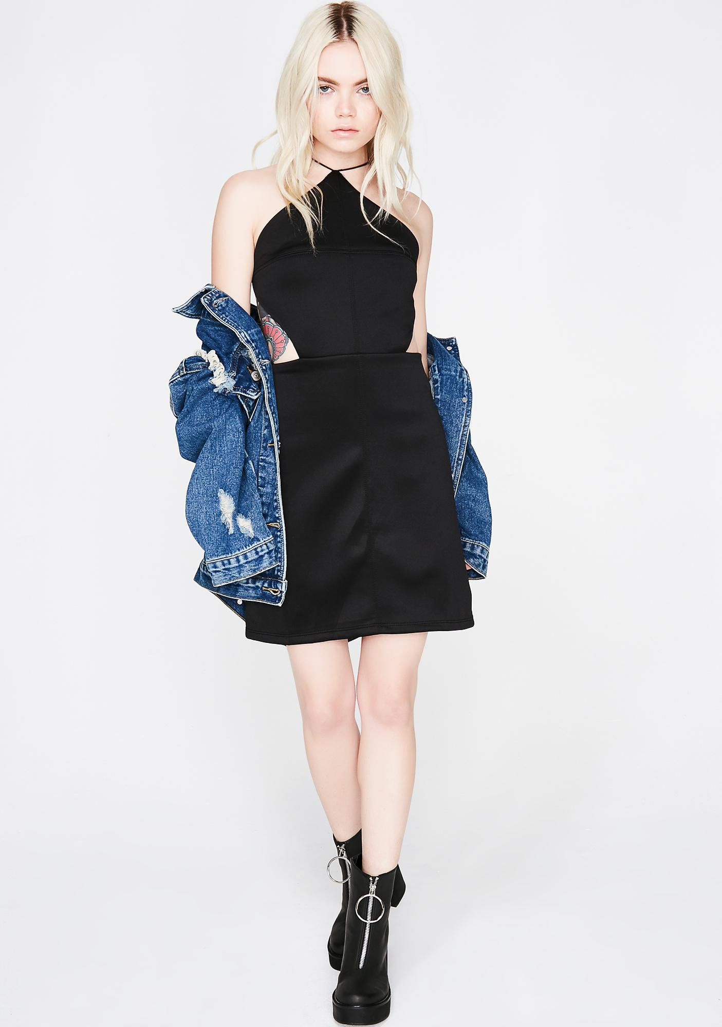 Sippin' Champs Cutout Dress