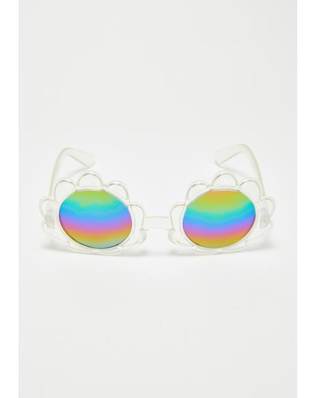 Beachy Thang Shell Sunglasses