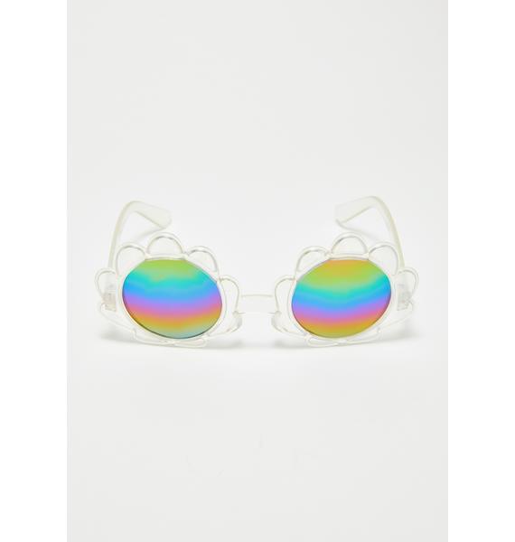 Beachy Thang Shell Sunglasses