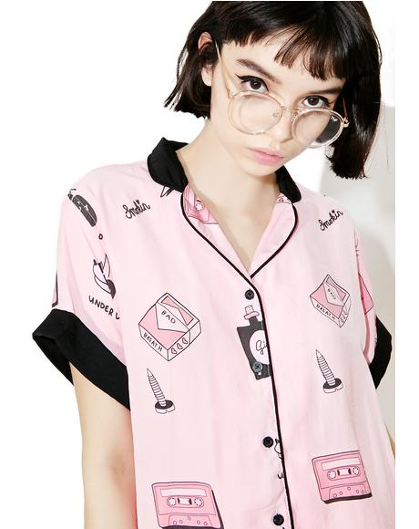 Bad Girl Satin Shirt
