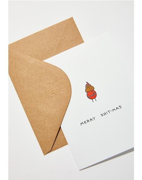 Merry Shitmas Card