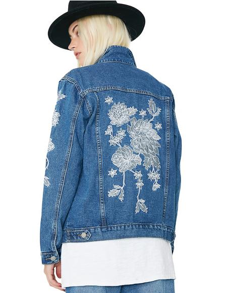Desert Floral Denim Jacket
