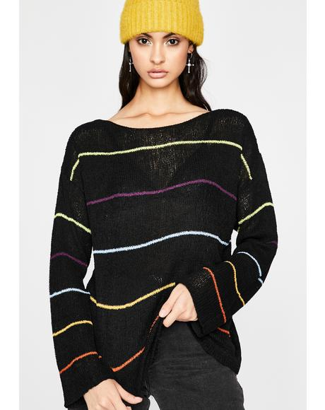 Goin' Punk Striped Sweater