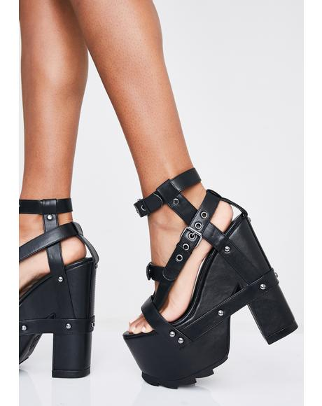 Midnight Nightcall Platform Heels