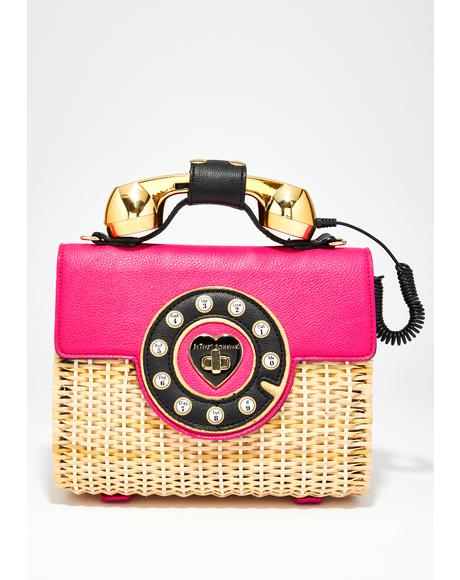 Wicker Phone Bag
