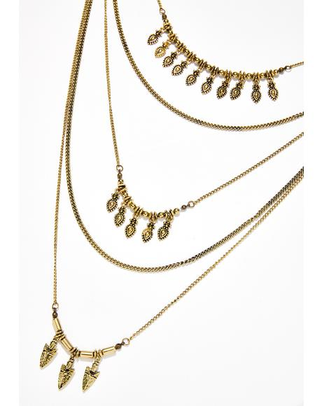 Goin' Up Layered Necklace