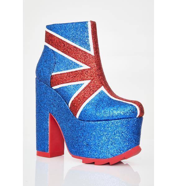 Y.R.U. Nightmare Union Jack Platform Boots