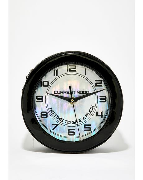 Wasted Hours Clock Purse