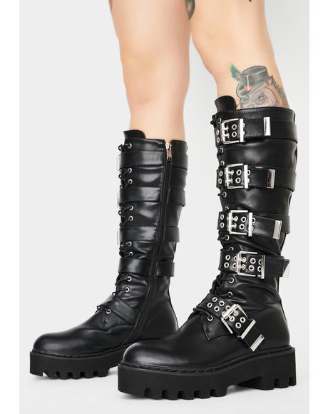 Lockdown Knee High Boots