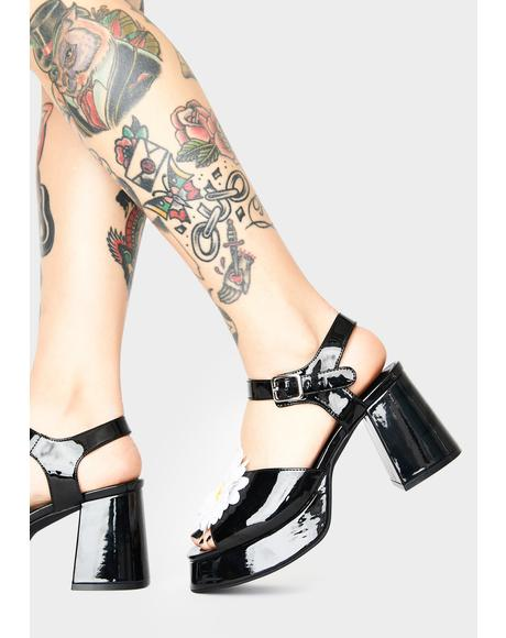 What's The Buzz Patent Heels