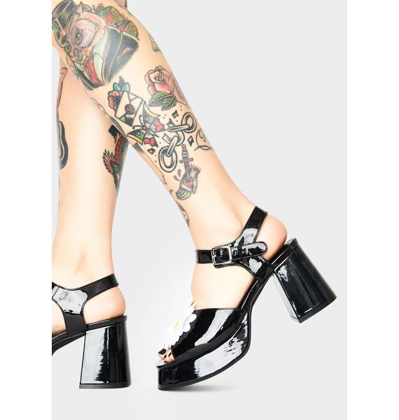 dELiA*s by Dolls Kill What's The Buzz Patent Heels
