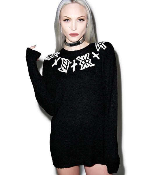 UNIF Logo Neck Sweater