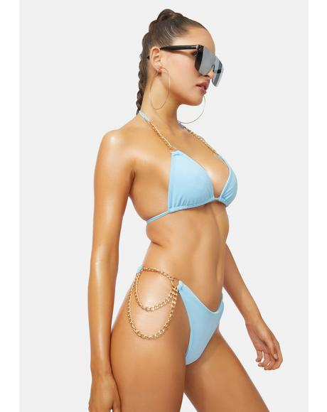Sky VIP Only Chain Bikini Set