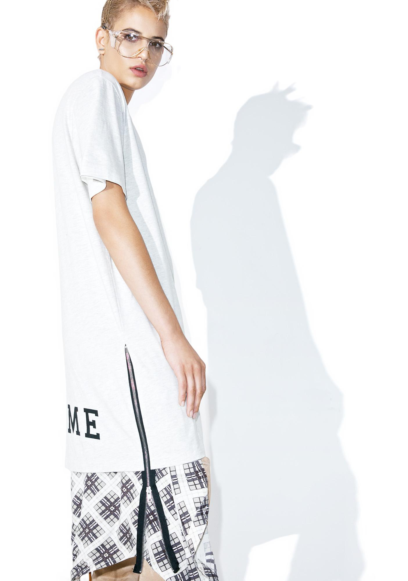 Civil Clothing Creme Extended Zip Long Tee