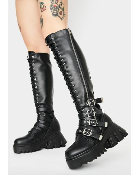 Tainted Love Knee High Boots