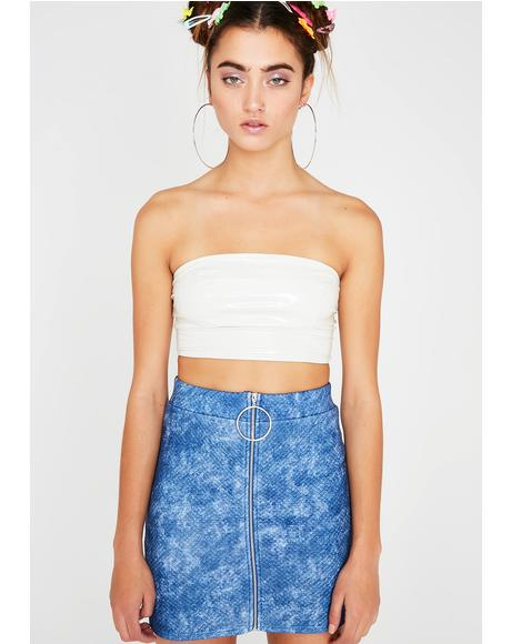 Body High O-Ring Mini Skirt