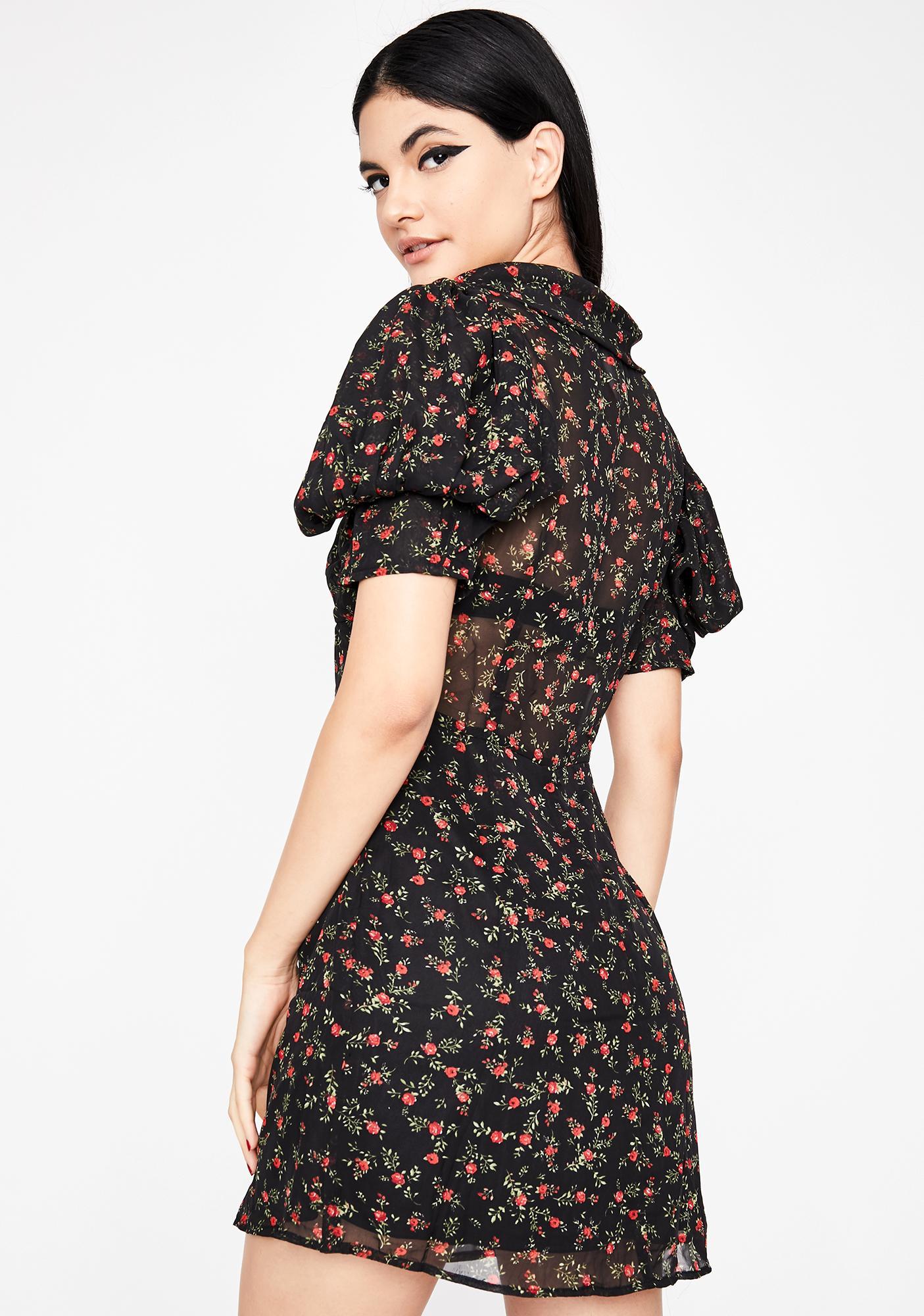 Take A Walk Floral Dress
