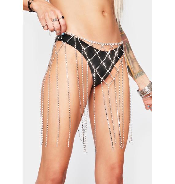 Diva Valley Rhinestone Chain Skirt
