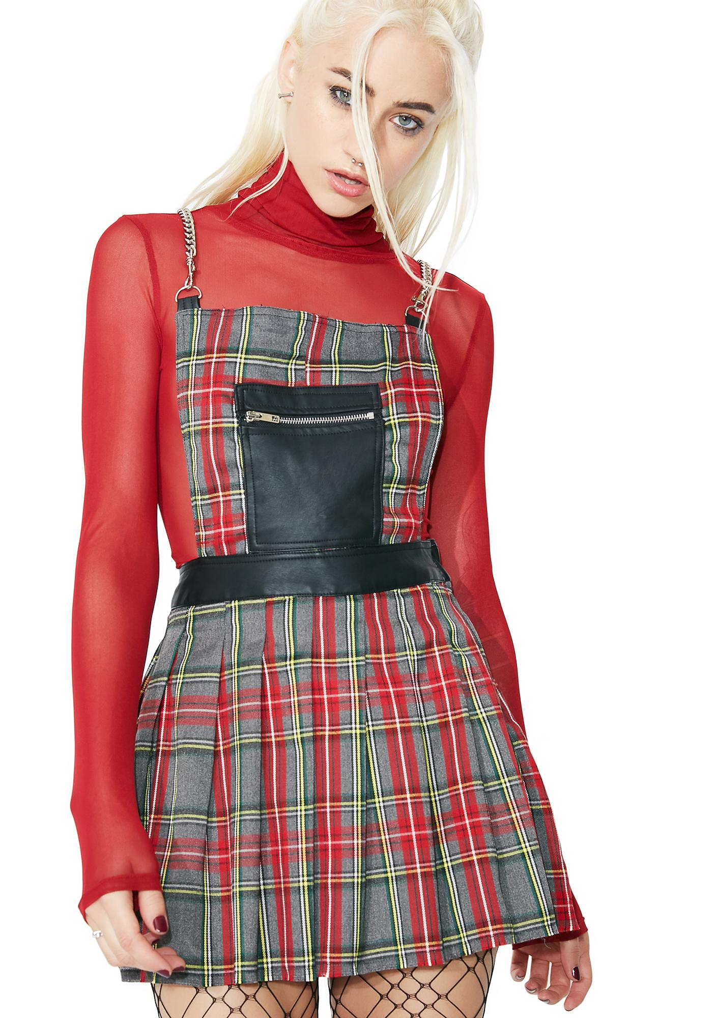 Current Mood Teen Spirit Plaid Dress
