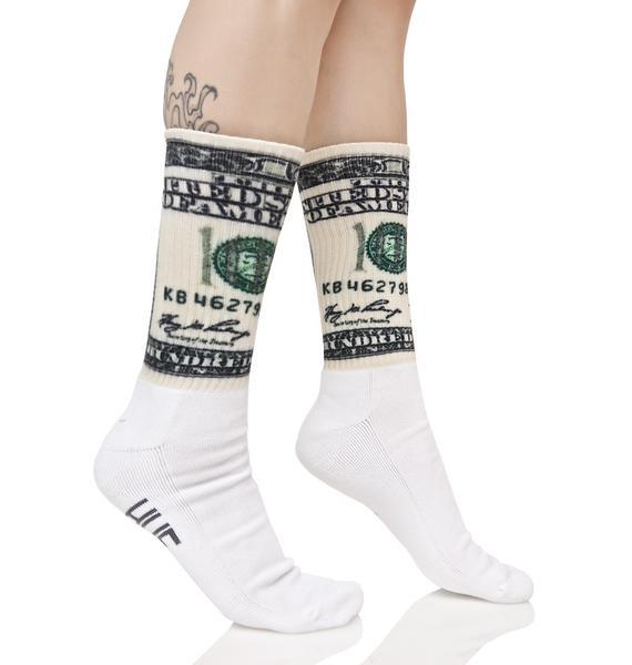 HUF Dolla Bills Crew Sock