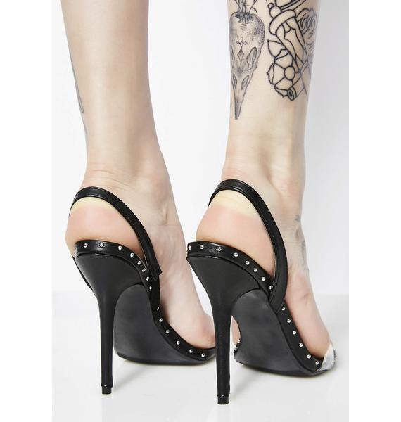 See About Me Clear Strap Heels