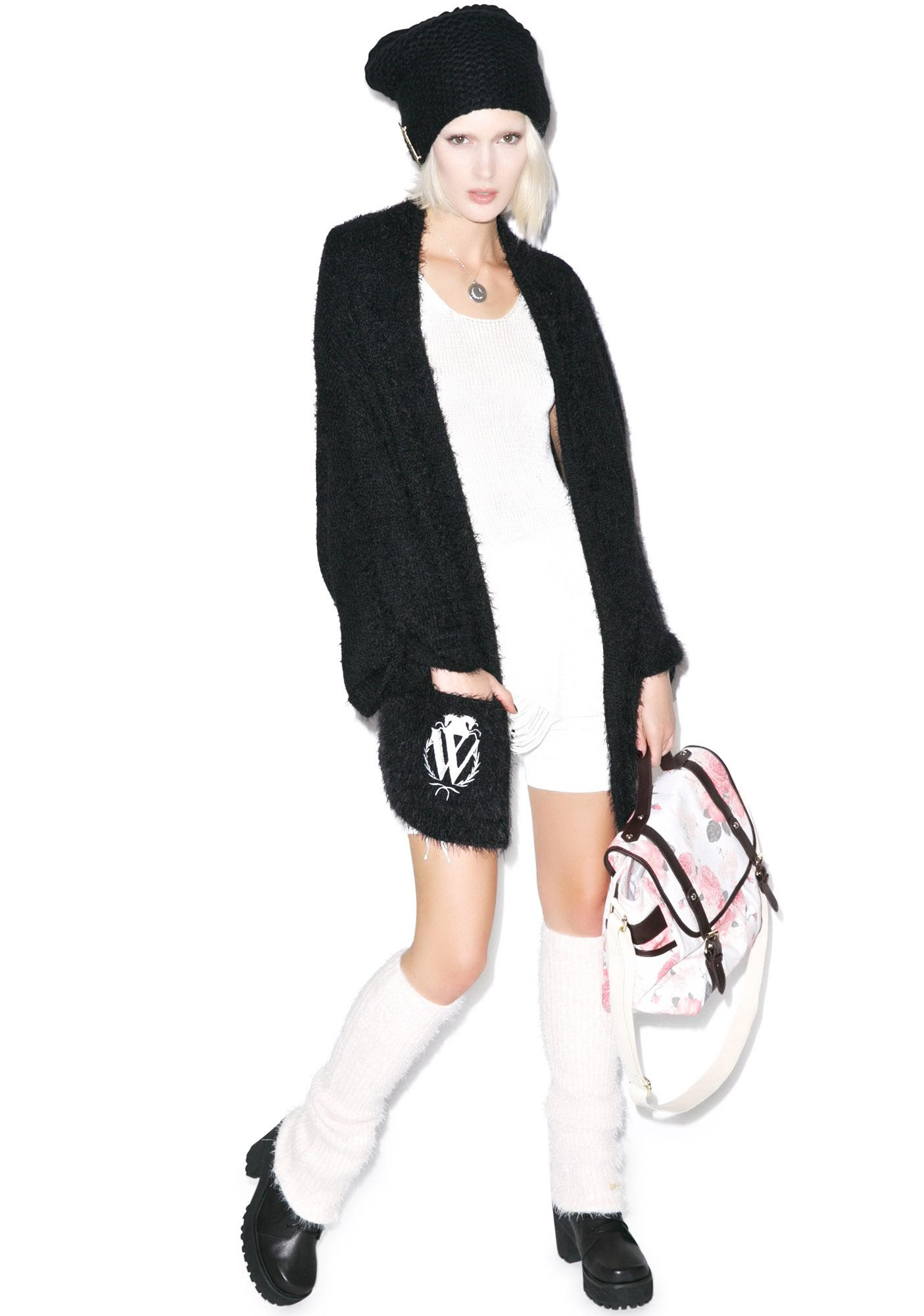 Wildfox Couture Classic Logo Slouch Cardigan