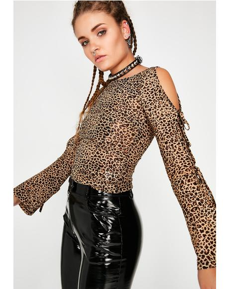 Cougar Mode Bell Sleeve Top