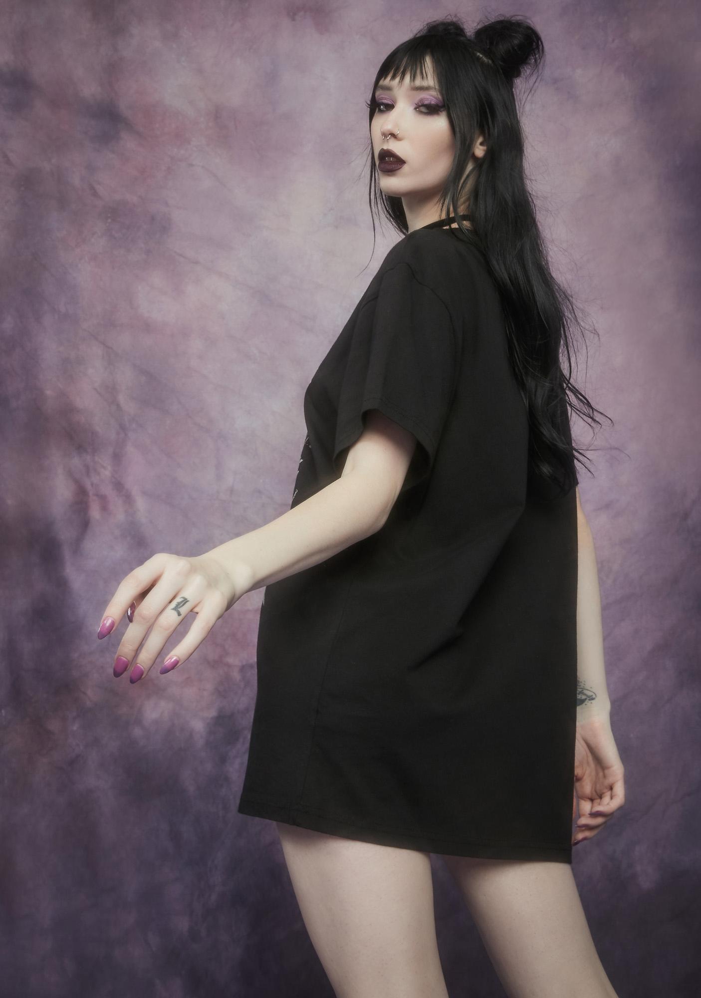 Widow Malice And Mischief Oversized Graphic Tee