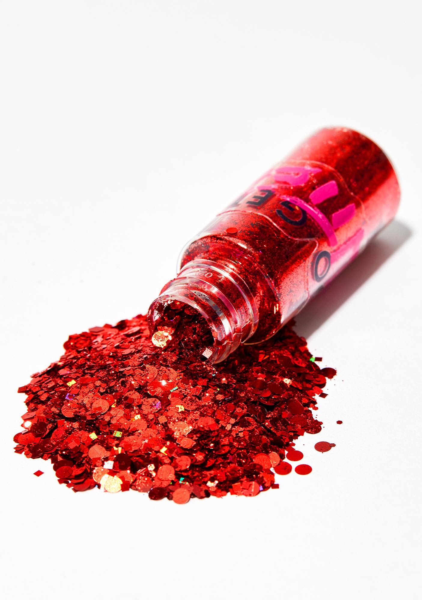 Go Get Glitter Chunky Red Holographic Glitter