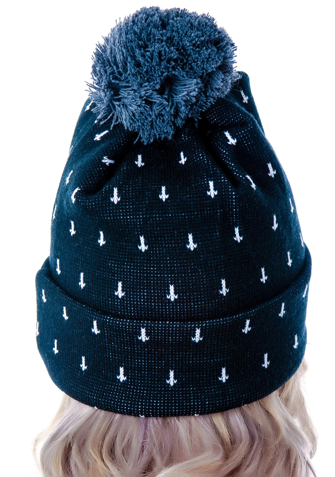 Cross Bobble Beanie