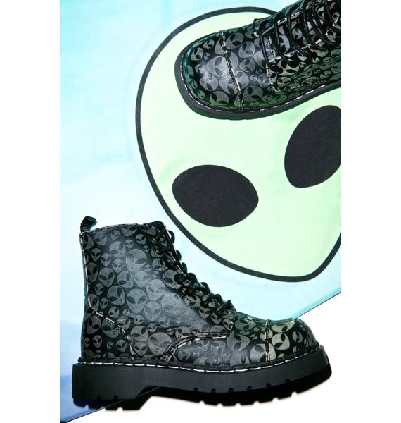 T.U.K. Alien Glow Anarchic 7 Eye Boots